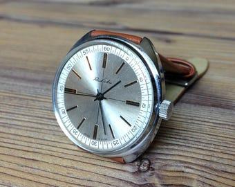 "Soviet watch""Raketa"" ,Mens watch, Yellow Watch ,classic watch,  Russian watch, Vintage Watch ,Mens watch, boyfriends watch"