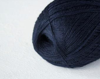 Cobweb deep blue color merino wool yarn - haapsalu shawl yarn