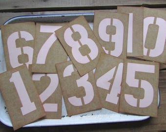 Rustic Table Number Stencil With Pastel Your Choice