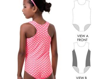 Swimsuit patterns, Leotard Pattern, Swimwear sewing pattern, swimwear pattern, girls leotard pattern PDF, sewing pattern LEOTARD #8