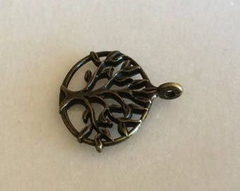 Antique Bronze Oval Tree Double Sided Charms
