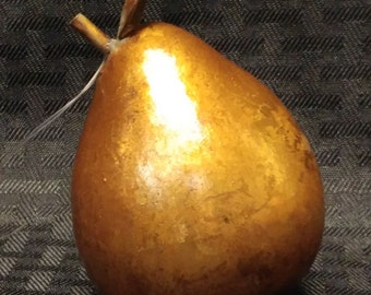 Vintage Gold Leaf Pear Ornament