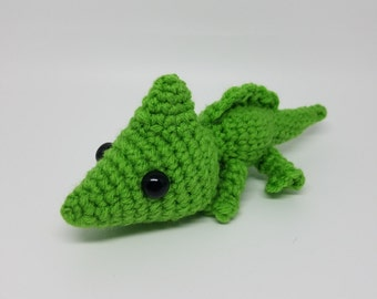 Crochet Chameleon Amigurumi Plush