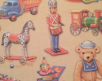 12 5.75x5.75 sheets embossed cardstock with boy's toys pattern