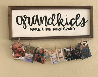 Grandkids Sign - wall hanging - home decor