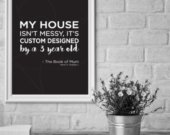 BOOK OF MUM quote 3, wall art, print