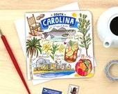 South Carolina Card. Single or Pack of 4.