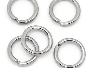 Wholesale 500 PCs - Stainless Steel Open Jump Rings 16 Gauge