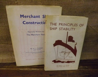 Principles of Ship Stability Merchant Ship Construction Vintage Ship Building Books