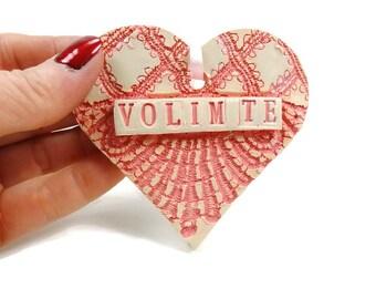 Volim Te Ornament, Serbian Heart, Bridal Shower Favor,Engagement Gift, Bosnia Wedding, Croatian I Love You, Serbian Wedding, Valentine Heart