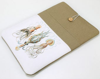 Laptop Sleeve, Laptop Case, Asus Vivobook,  front pocket, Squid , Khaki