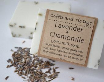 Lavender + Chamomile Goat Milk Soap, Lavender Soap, Chamomile Soap, Goat Milk Soap