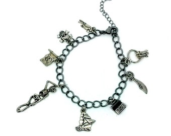 Black Sails Charm Bracelet Pirate Jewelry Handmade Gift