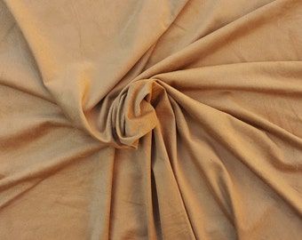 Tan Microsuede Spandex Fabric Faux Suede by the Yard 1/17