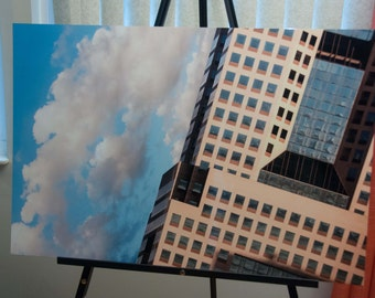 """Christmas Special - Surreal Pittsburgh Photo, HDR photograph, Blue and tan, 20x30"""" Aluminum Metal photography print, Scideways"""