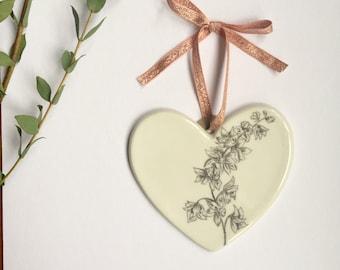 Illustrated Delphinium flower heart