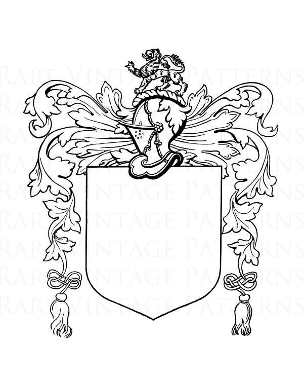 Free Coat Of Arms Template Lion