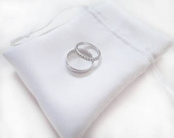 CUSTOMIZABLE Satin Drawstring Ring Jewellery Gift Favour Pouch