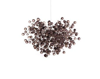 Modern Hanging chandeliers with Gray Transparent  bubbles  - light fixture for dinning room, living room or open space.
