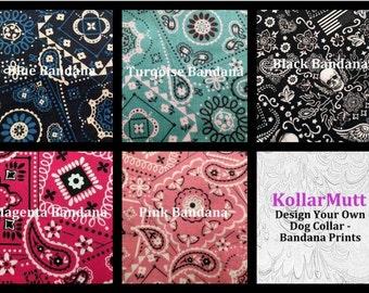 Custom Dog Collar - Design Your Own - Bandana Prints