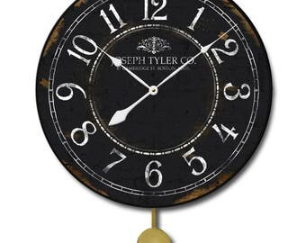 Black & White Pendulum Wall Clock
