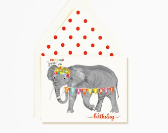 Elephant Grandiose Happy Birthday