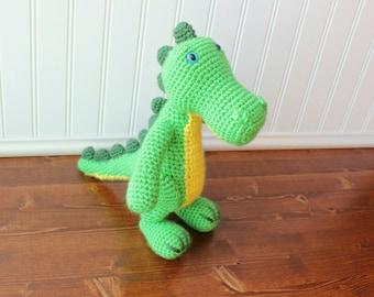 Crochet Alligator Plush - Alligator Stuffed animal - Alligator Amigurumi - Baby shower gift -  - Birthday Gift - Toddler Gift - Baby Gift