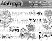 Get Well Flowers Digital Stamp Set