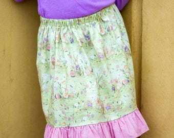 Girls ruffle skirt, Easter skirt, spring skirt, girls fashion, party skirt