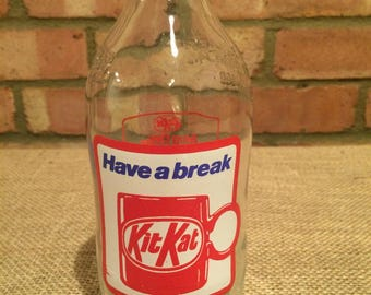 Vintage '80's Unigate KitKat milk bottle