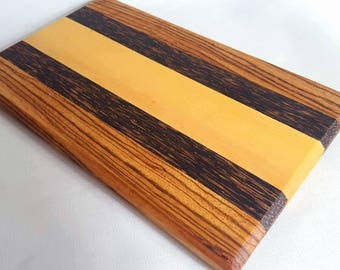 Unique serving cutting board kitchen essential exotic hardwood