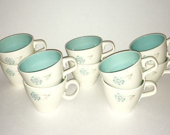 "Midcentury Taylor, Smith and Taylor Ever Yours ""Boutonnière"" cups"