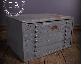 Vintage Industrial Depression Era 7 Drawer Small Parts Hardware Cabinet