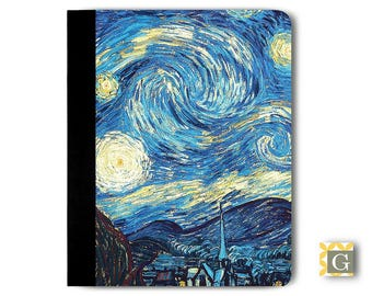 "iPad 9.7"" 2017, iPad Case, iPad Air Case, iPad Mini Case, iPad Pro Case, Portfolio iPad Case - Starry Night"