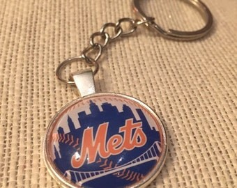 New York Mets MLB Glass Pendant Necklace