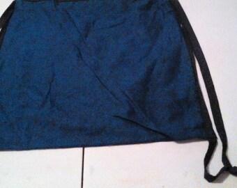 Blue and Black Drawstring Backpack