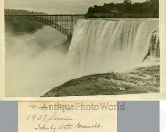 Niagara falls antique photo