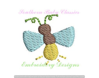 Lightning Bug Mini Fill Embroidery Design Monogram Add On  File for Embroidery Machine Bug Bugs Boy Summer Girl