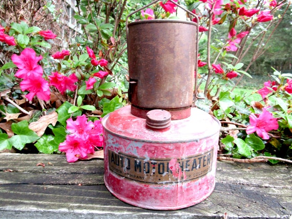 Vintage Auto Motor Heater, Hanging Bunsen Auto Motor Heater,Engine Heater, Automotive Decor, Industrial Decor, 1920s