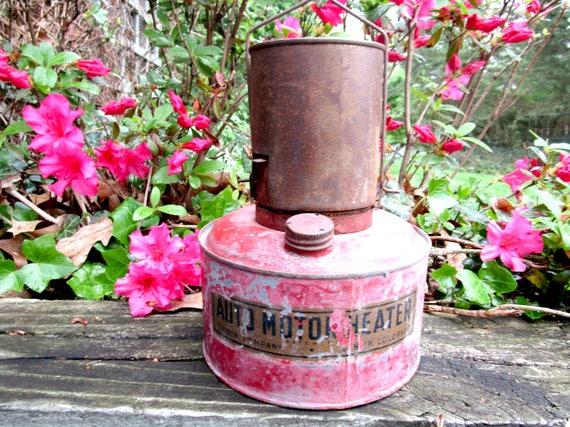 Vintage Auto Motor Heater, Hanging Bunsen Auto Motor Heater,Engine Heater, Automotive Decor, Industrial Decor, 1920s