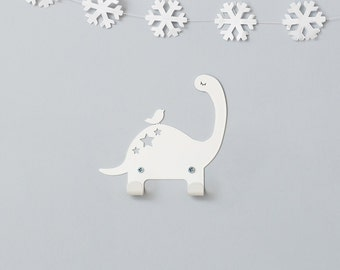 Metal coat rack, Dinosaur hooks for kids, Dinos bedroom decorative wall hanger, Dino décor