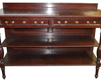 18196 *REDUCED PRICE* Mahogany Oversized Dining Room Server