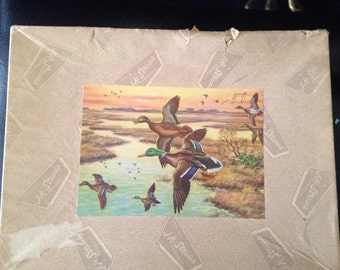 "Joseph K Strauss Jigsaw Puzzle #228  ""Winging on High"" Mallard Ducks"