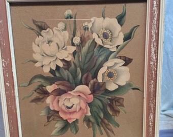 Vintage Floral Prints by de Jorge Set of 2