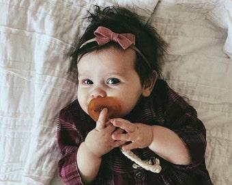 Baby Headband, Felt Bow Headband, Baby Felt Headband, ----5 Colors to Choose From