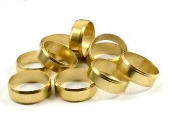 3 Pcs. Raw Brass 8x23 mm Personalized Ring Blanks  , İnside Diameter 21 mm