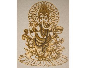 Ganesha Ganapati Buddhist Hindu Crew T-Shirt