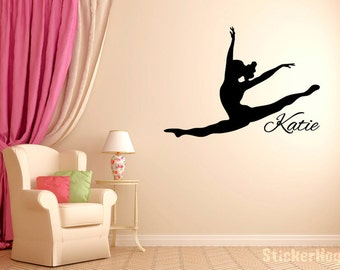 Attirant Personalized Leaping Dancer Wall Decal Vinyl Sticker Dance Studio Bedroom  Wall Home Decor Sizes From 22