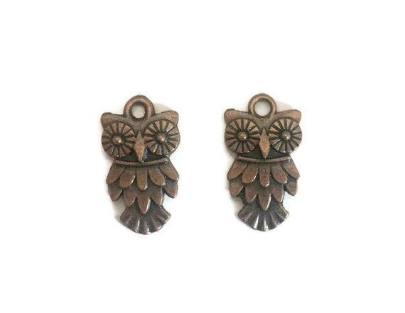 Cute Owl copper plated jewelry charms
