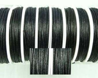 0.35 Euro / meter) 1 roll with 8 m black wax cord diameter 1 mm